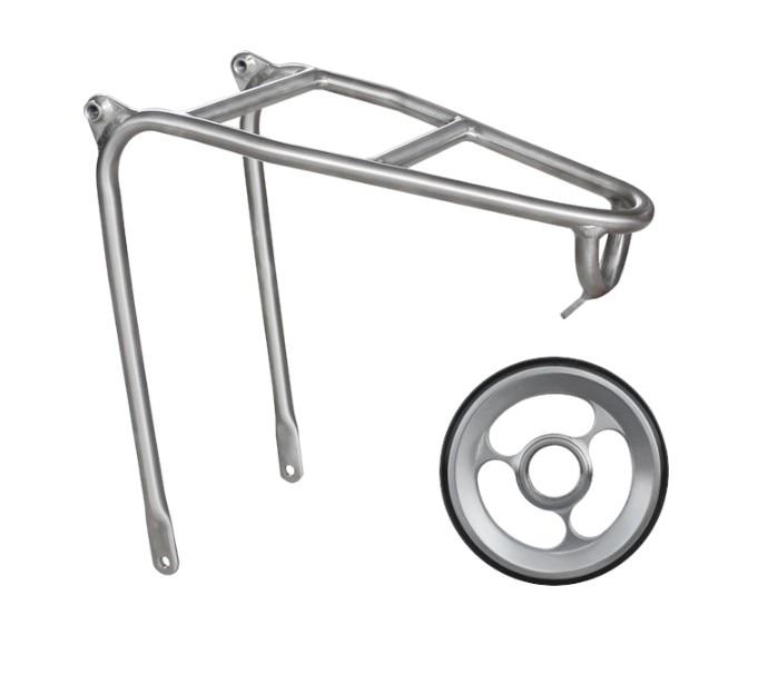 Titanium alloy Rear Rack for Brompton Bicycle Super Lightweight Titanium alloy easywheel for Brompton