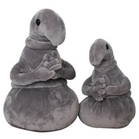 The Tubby Gray Blob Zhdun Toy Waiting Plush Toy Plush Zhdun Meme Plush Doll Homunculus Loxodontus