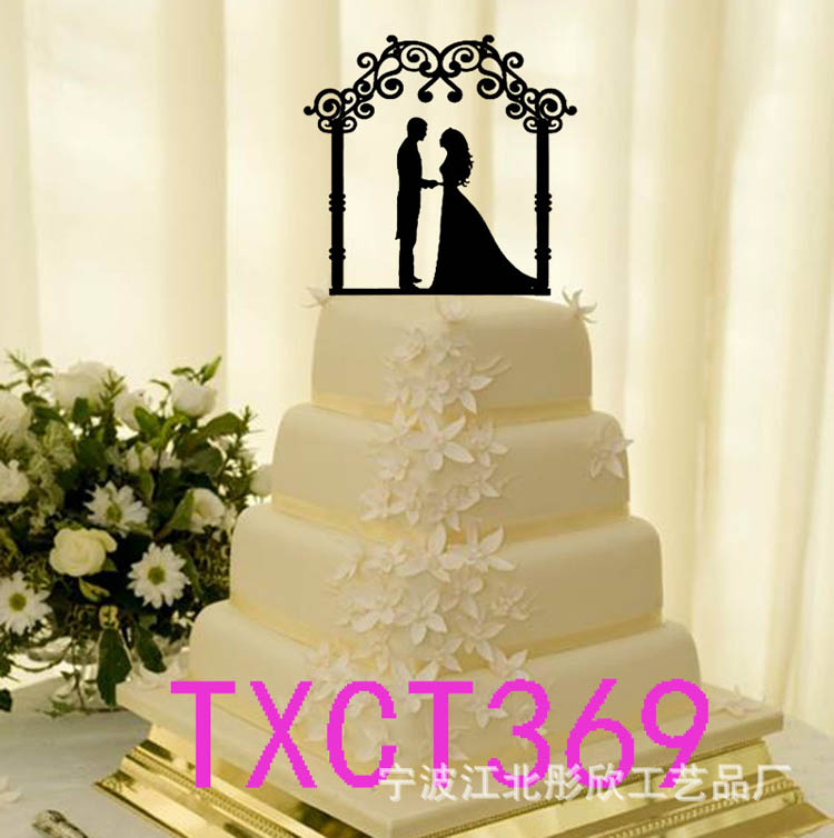 Wedding Decors Gold Silver Mr and Mrs Acrylic Cake Topper Silhouette ...
