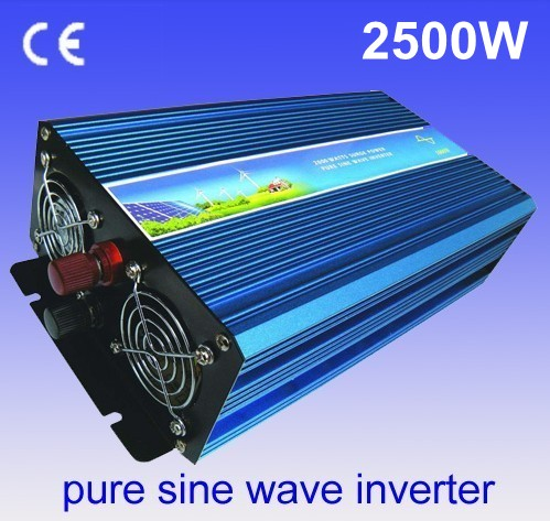 цена на 12V DC to AC Solar Inverter 2500W Pure sine wave power inverter Hybrid Pura Sine Ondo Konverter 12V 2500W