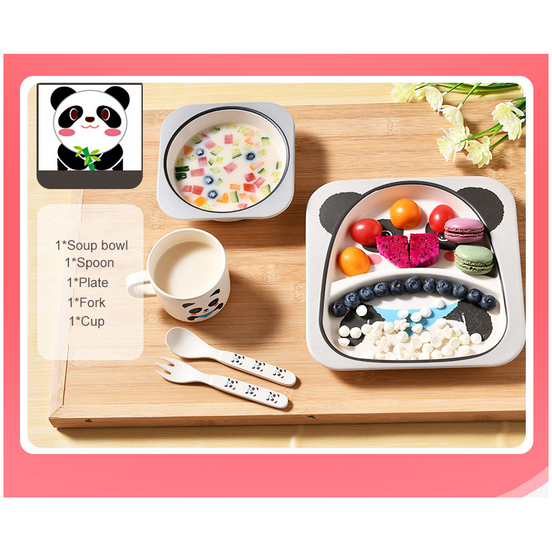 Kids Children Baby Plate 100% Silicone Dishes Bowl With Suction Cup Silicone Feeding Food Pratos  sc 1 st  Best Buy & Bamboo child baby tableware plate set kids children dinnerware set ...