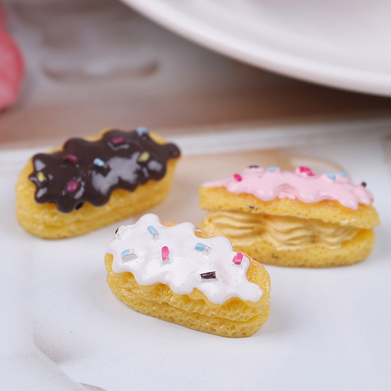 3pcs 1/12 Rsin Bread Cake Fast Food Pretend Play Miniature For 1/6 Doll Food Girls Kids Toy Gift Children Kitchen Cutting Toys