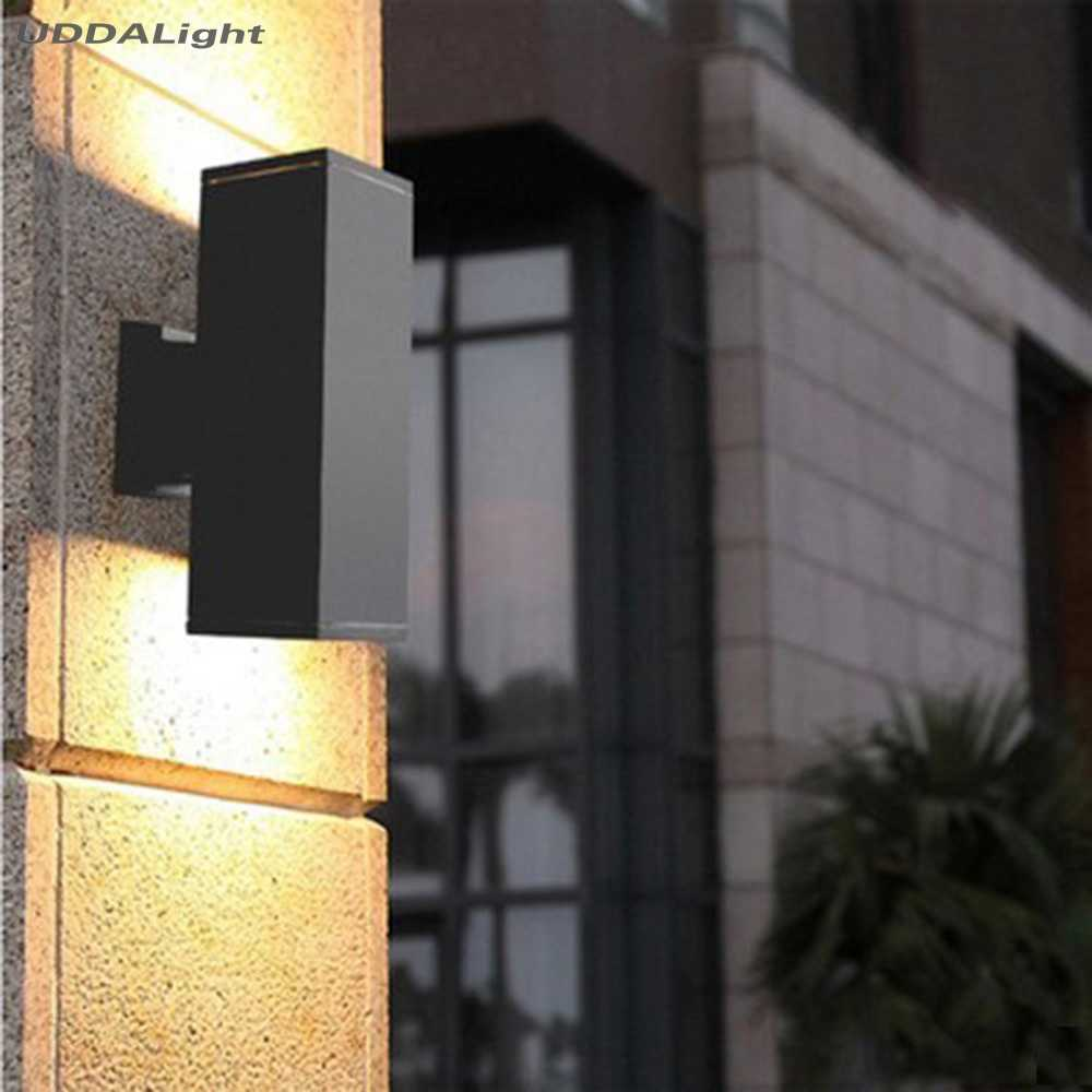 outdoor wall light ip65 10w waterproof up down outdoor lighting square 65*65*180mm black gray hot