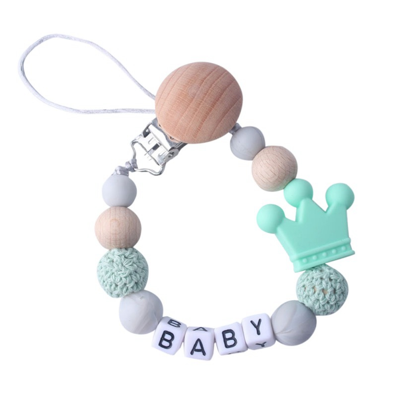 Silicone High Quality Baby Pacifier Clips Funny Pacifier Chain With Mouse Holder For Baby Baby Shower Gift BPA