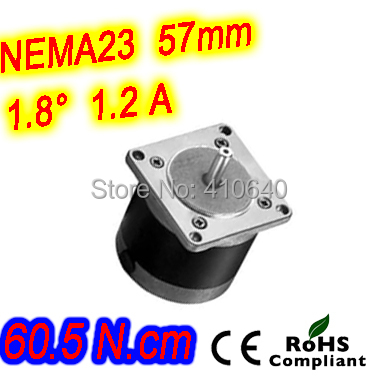 Round shape 10 pieces per lot step motor 23HR22-1206S L 56 mm Nema 23 with 1.8 deg 1.2 A 60.5 N.cm and unipolar 6 lead wires
