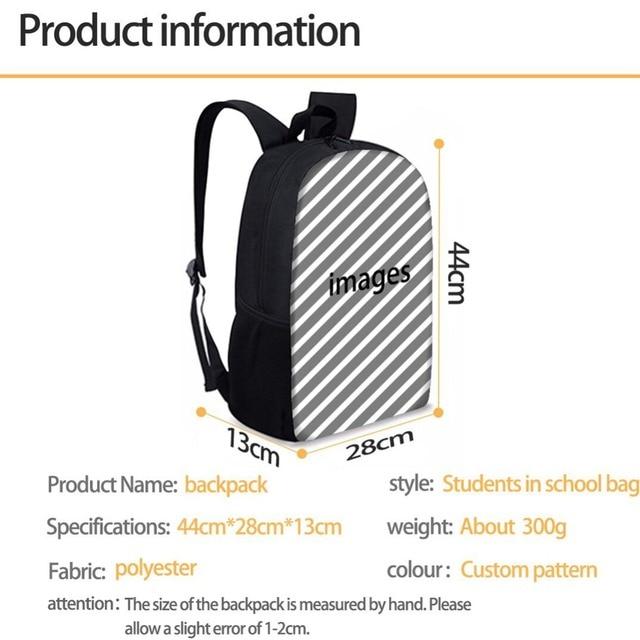 Cute Cartoon Unicorn School Bag Set for Teenager Student