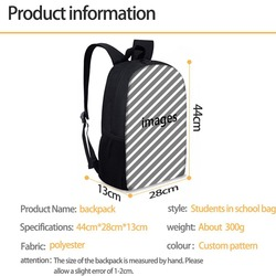 Nopersonality 3D piłki wzór torby szkolne dla chłopców dziewczyny plecak szkolny tornister 16 cal dzieci książka torba zestaw plecak szkolny 2