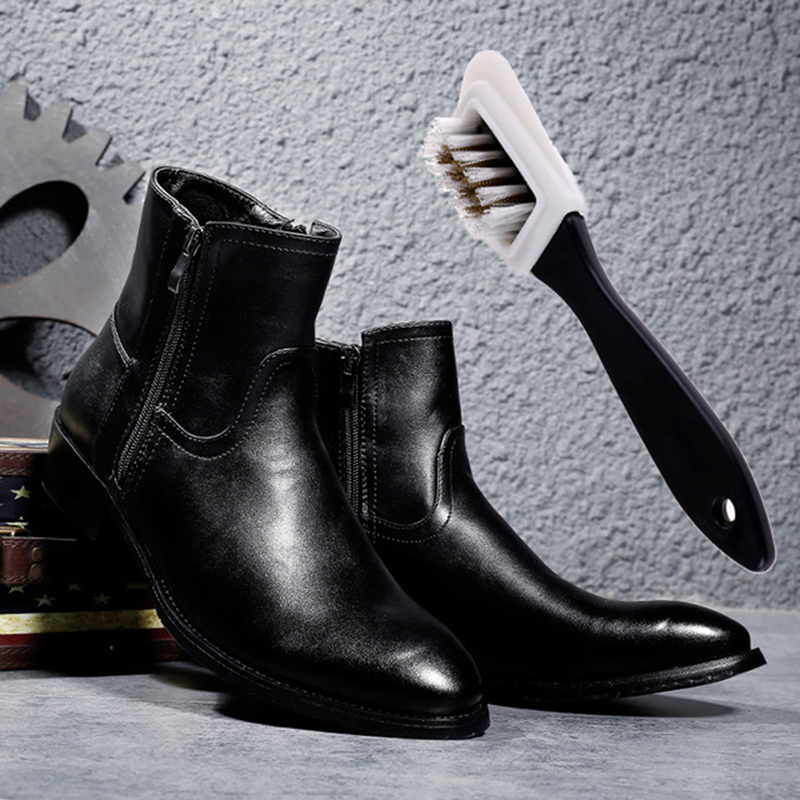 Black S Shaped Shoes Cleaner For Suede Nubuck Boot Shoe 3