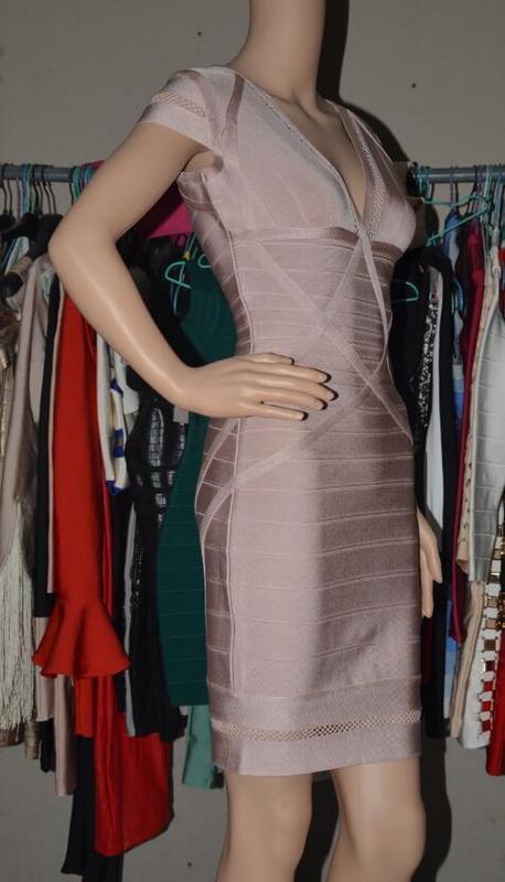 Moulante Mode Stretch Col Date Dress En Kaki Qualité Hl Dames Bandage Sexy Haute De V Aj35qRLc4