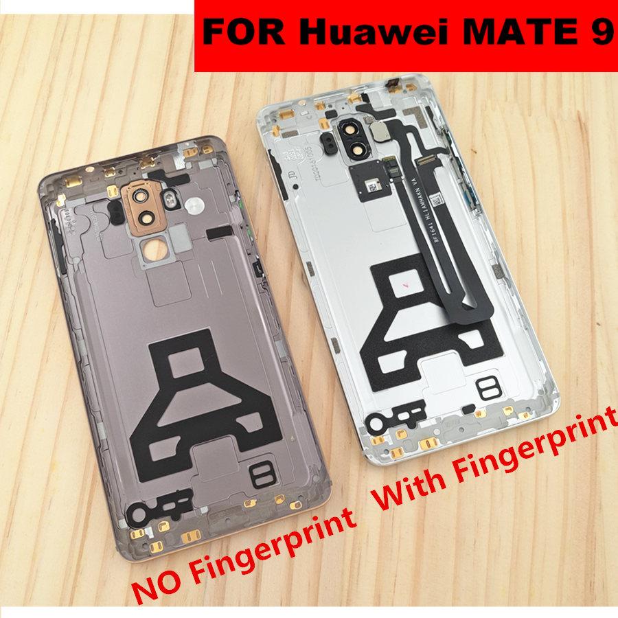 Dla Huawei MATE 9 MHA AL00 tylna tylna pokrywa baterii obudowa z zasilania przycisk głośności przyciski boczne + obiektyw aparatu z powrotem pokrywa drzwi w Obudowy do telefonów komórkowych od Telefony komórkowe i telekomunikacja na