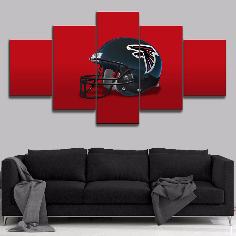 Painting Abstract Art Wall Modular Picture 5 Panels Atlanta Falcons For Living Room Home Decoration Canvas Prints Modern Poster