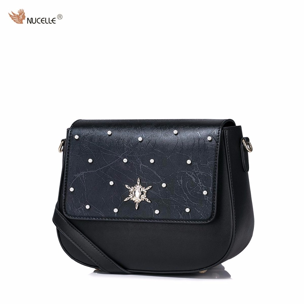 2017 New NUCELLE Brand Design Beading High Quality Soft PU Leather Women Lady Handbag Shoulder Crossbody Mini  Bags