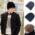Daisy & Na Fashion Men Winter Loose Warm Ski Hat Hot Boy Wool Knit Hip-pop Cap Unisex Hats 052