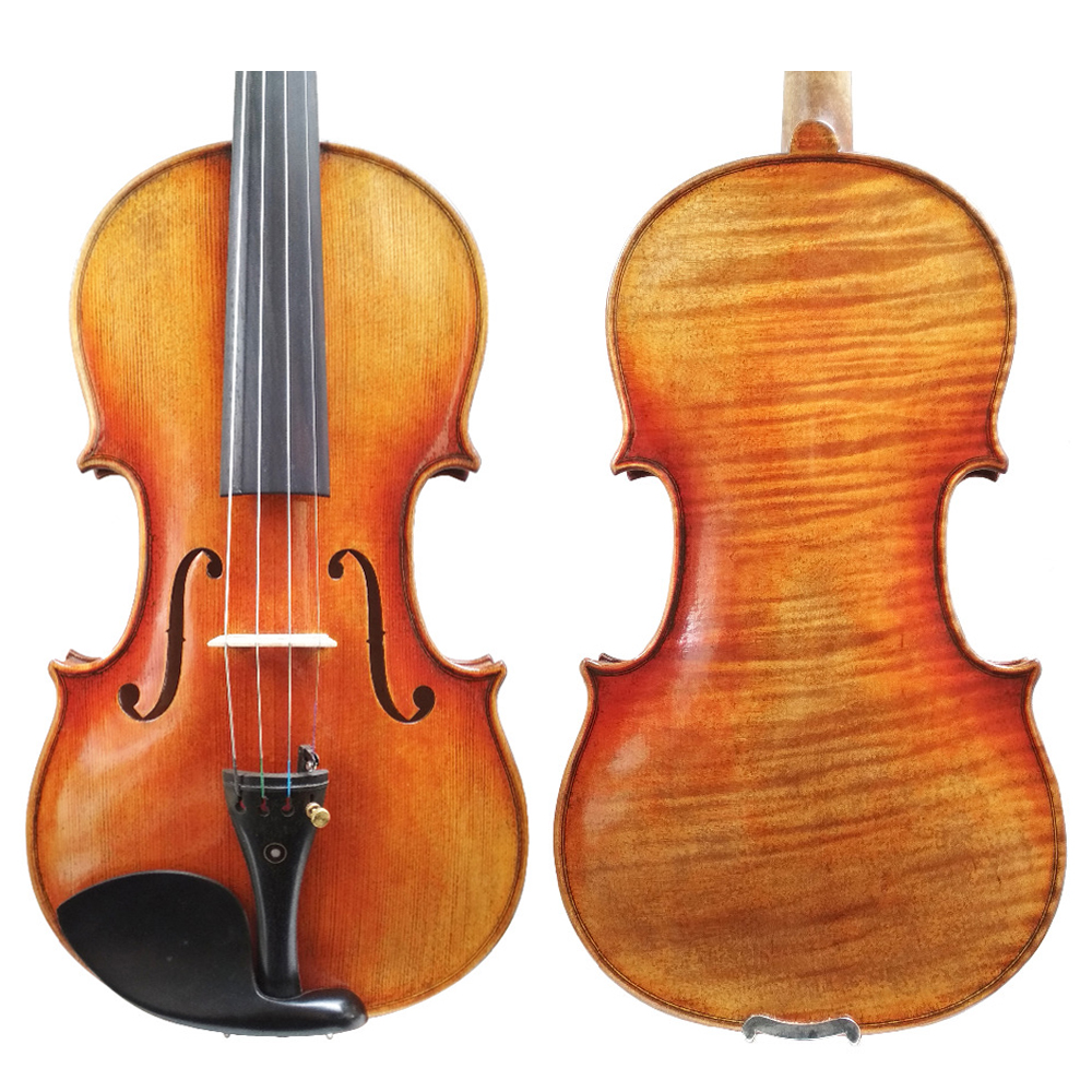Free Shipping Copy stradivarius 1716 100% Handmade Oil Varnish Violin FPVN04 with Foam Case and Carbon Fiber Bow diamond carbon fiber viola bow melody