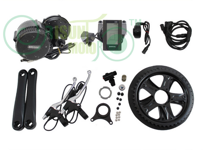 Free Shipping Exclusive Electric Bike 48V 500W Mid Crank Drive Motor Kits 8fun Bafang BBS02 With C965 LCD pannello Display