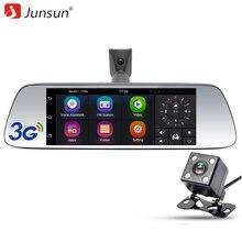 Junsun 7 pulgadas Cámara Del DVR Del Coche Espejo Especial Android GPS navegación Bluetooth 16G FHD 1080 p Grabador de Vídeo Dash Doble Lente Cam