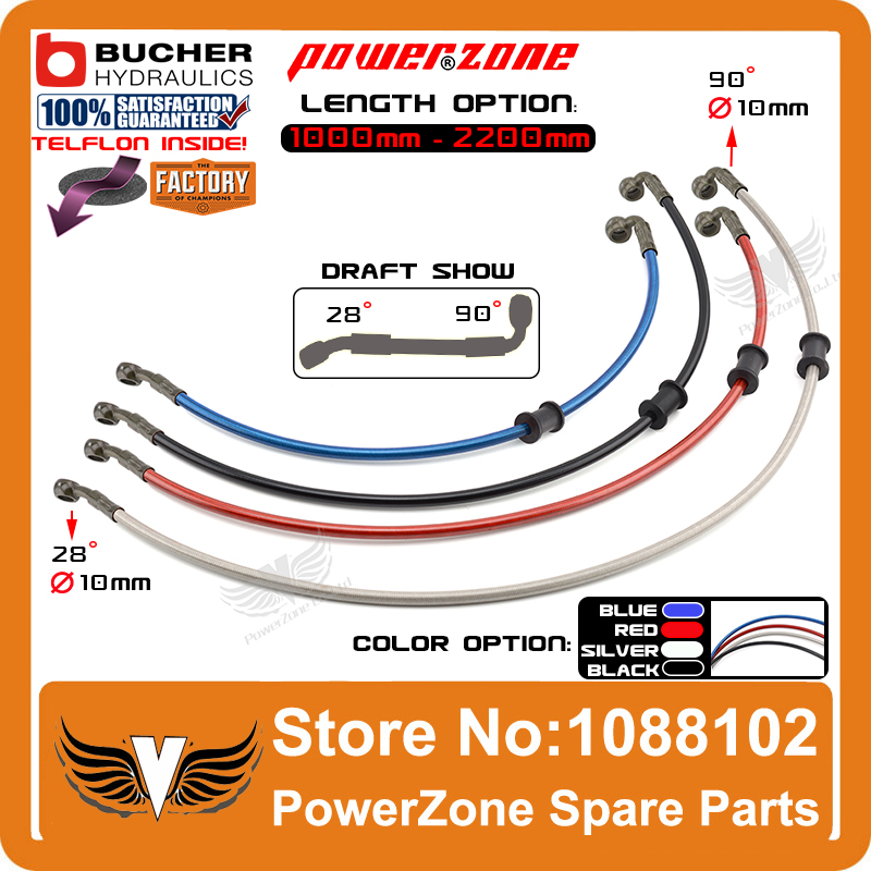 1000mm to 2200mm Colorful Motorcycle ATV Buggy Dirt Bike Hydraulic Reinforced Banjo Brake Clutch Hose Line Pipe