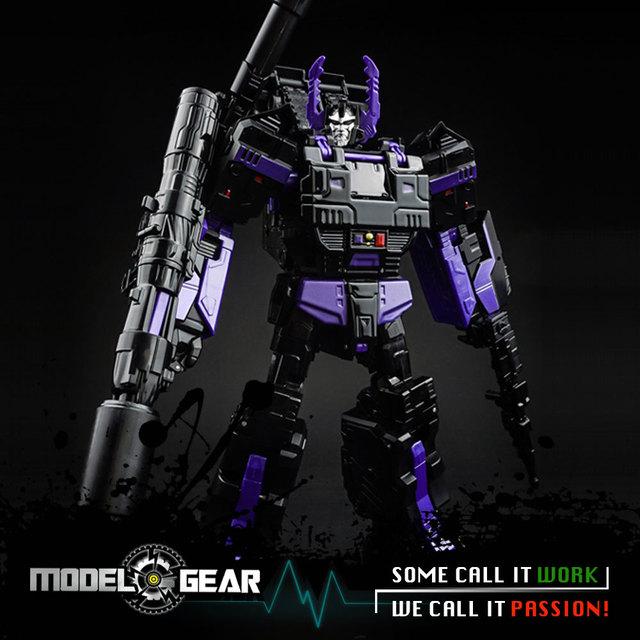 KUBIANBAO KBB TF Transformation metal version TANK Black IDW Megatron 25CM high L level LG13 Robot Action Figure