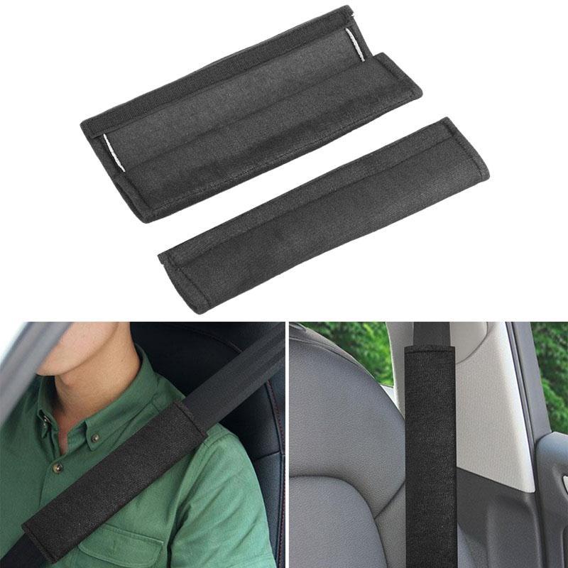 2Pcs 26.5CM Car Sefety Seat Belt Cover Auto Seatbelt Shoulder Protection Padding Plush Car Seatbelts Black Car-styling 2017 New