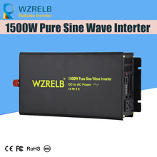 Reliable Continuous Power 1500w power inverter with remote controller off grid pure sine wave  solar DC 12V 24V 48V  110v