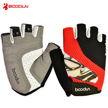 BOODUN Cycling Bike Gloves Half Finger Shockproof  MTB Road Mountain Bicycle Sports Bike Gloves for Men Women Cycling Equipment цена