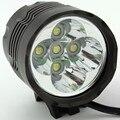 5 x Cree T6 XM-L 5T6 6000 Lumens LED 2 Em 1 3 modos de Bicicleta Luz Da Frente Da Bicicleta Lâmpada Cabeça Farol Farol + 8.4 V Bateria