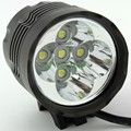5 x Cree XM-L T6 5T6 6000 Lumens 2 In 1 LED 3 Modes Bike Light Bicycle Front Head Lamp Headlight Headlamp + 8.4V Battery Pack