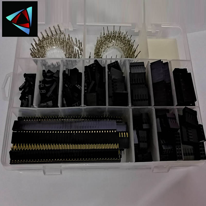 2270Pcs 2.54Mm Dupont Terminal Connector Wire Jumper Pin Connector Housing Terminal Kit And Male Female Crimp Pins