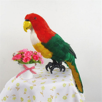 Fancytrader Simulation Macaw Parrot Model Toy Colorful Bird Doll Made of Plastic Foam & Feathers Parrot Xmas gift 45cm x 20cm