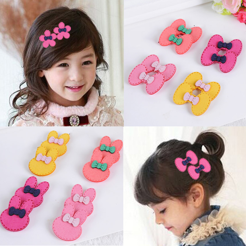 Fashion cute hair accessories for girl kids baby sweet hairpin Children's Magic Hair Sticker Clip Bangs Stickers headwear #JH080 bruder грейдер cat bruder