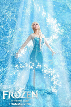 Girls Dresses Princess Adult Girls Clothing Snow Queen Anna Elsa Cosplay Costume Birthday Party Dress Coronation