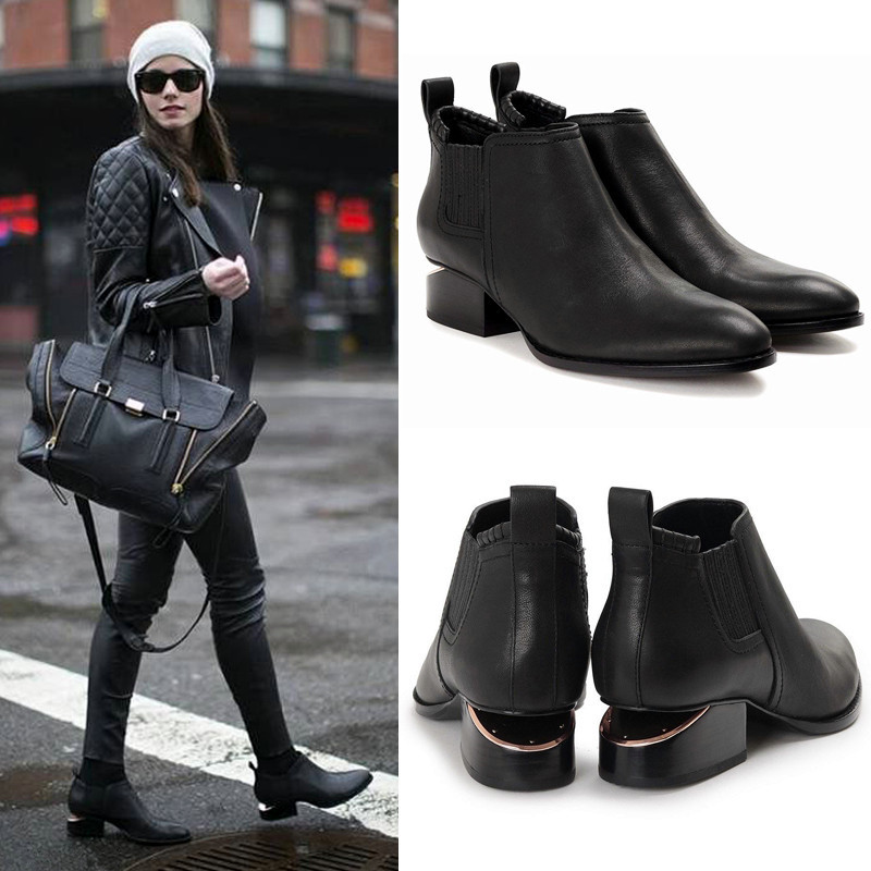 Cut-outs Ankle Boots Pointy Toe Rome Shoes Woman Dress Short Botas Mujer Soft Leather Chelsea Women Boots Runway Shoes Heels 40 transparent women boots pointy toe stiletto lady pumps zippers sexy shoes woman brand design short booties rome chelsea boots