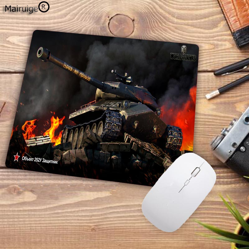 Mairuige Rubber Mousepad World Of Tanks Style Gaming White Lock Edge Mouse Pad PC Computer Laptop Gaming Mice Mat For Gamer