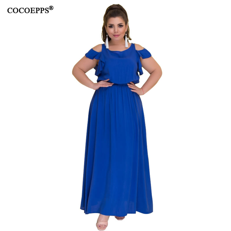 2018 summer women long dress elegant big size dress evening party maxi dress 5xl 6xl hollow out casual dresses female vestidos