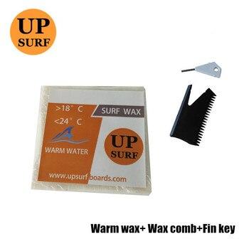 Surf Wax warm Water Wax+surf wax comb+Fin Key Good Quality surfboard wax base/cold/cool/Tropical/warm surf wax cool water wax surf wax comb good quality surfboard wax
