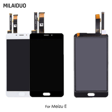 LCD Display For Meizu M3E For Meilan E A680Q Touch Screen Digitizer Full Assembly Replacement Black White No Frame meizu m3e 32gb silver white монопод mzu pod blue