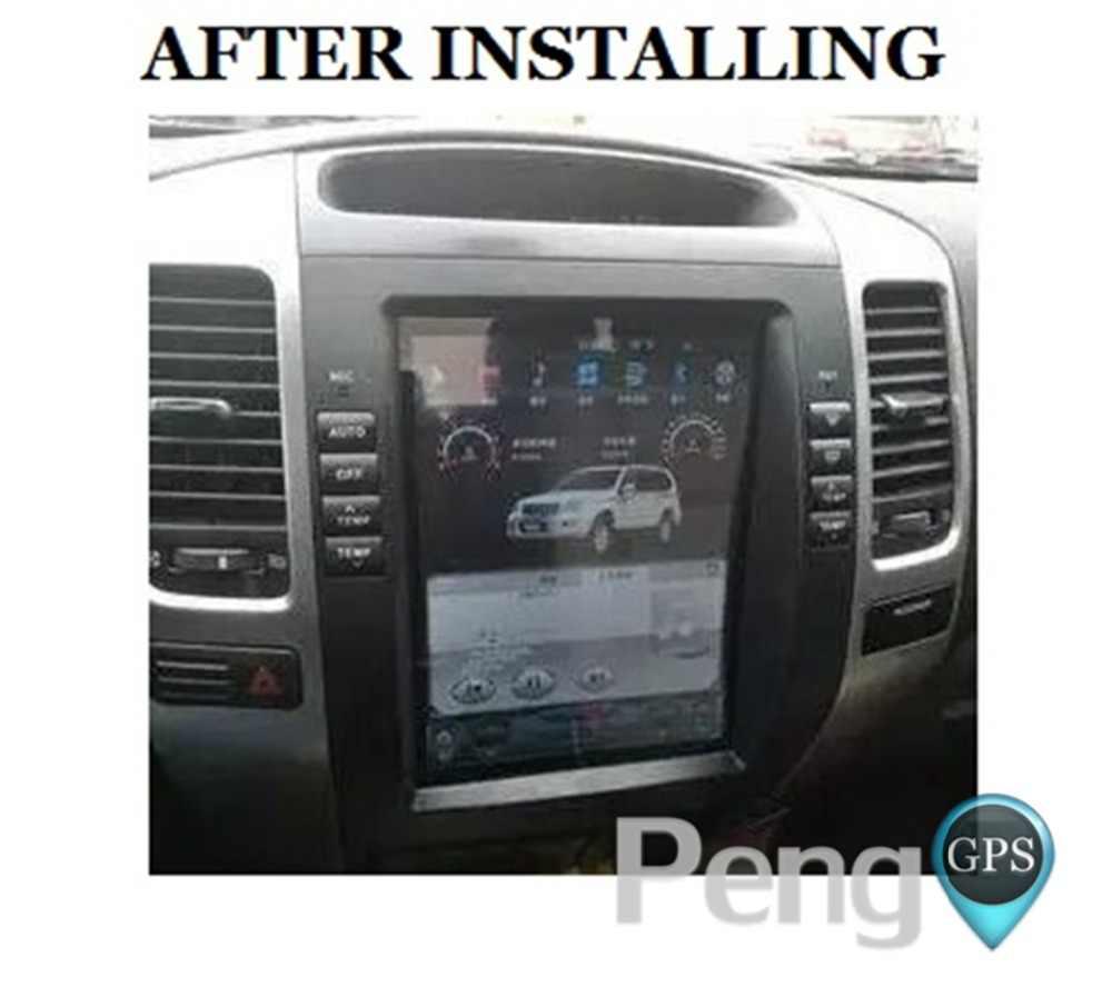 """Android 7,1 Автомобильный gps навигатор dvd-плеер для Toyota Land Cruiser Prado 120 2002-2009/Lexus GX470 Tesla стиль 10,4 """"ips экран"""