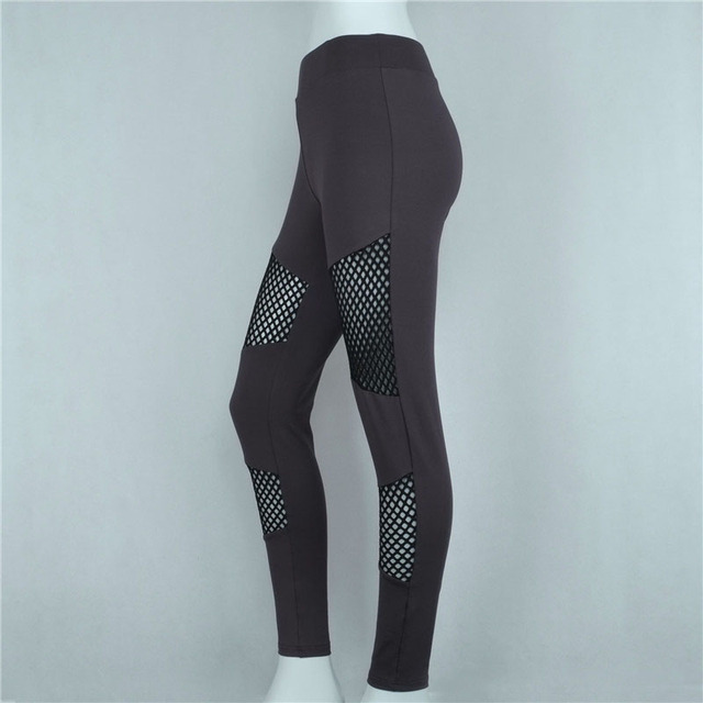 Hollow Mesh Stitching Sporting Fitness Leggings Breathable Sportswear Women Fashion Sexy Trousers Pants Ropa Deporte Mujer 95Z
