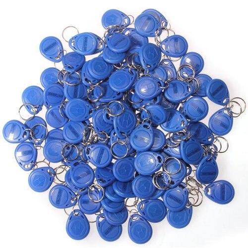 TOLYLE 100 x Cl Badge de Proximit RFID 125 Khz en ABS Bleu Scurit pour Maison