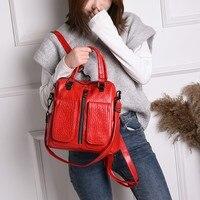 fashion backpack women soft leather female backpack travel alligator leather pattern school bag hot sale brand 2019 shoulder bag