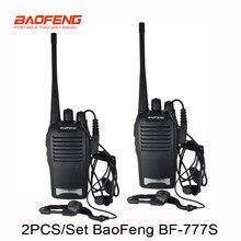 Novo par Walkie Talkie BF777s 1 BF-777s com fone de ouvido 5W 16CH UHF Interphone Baofeng 777S BaoFeng Two-Way Radio 2 pçs/set