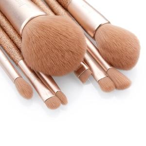 Image 3 - Jessup 8 pcs Professional foundation brush Powder Blusher Contour Pencil Eyeshadow Make up brushes Synthetic hair Cosmetic