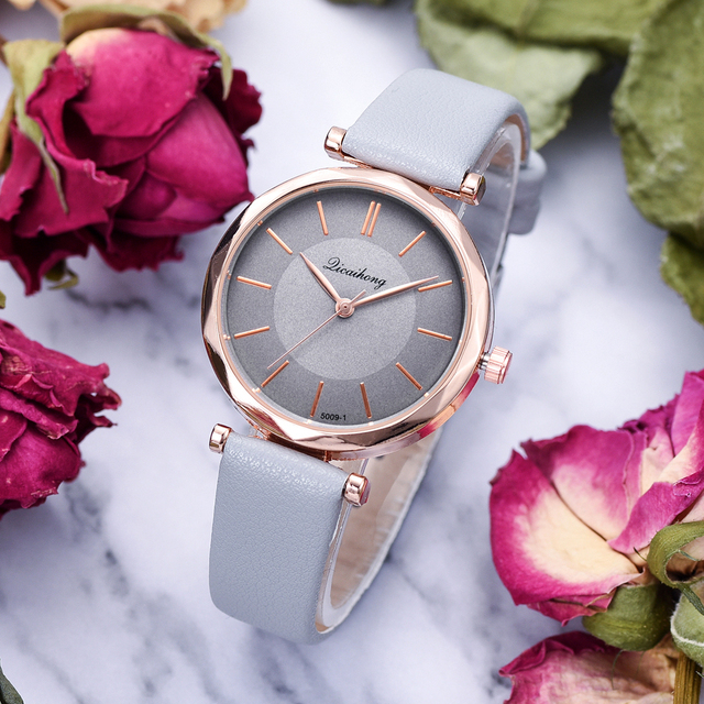 Leather Watches For Women Fashion Simple Sports Dress Quartz Clock Watch Luxury