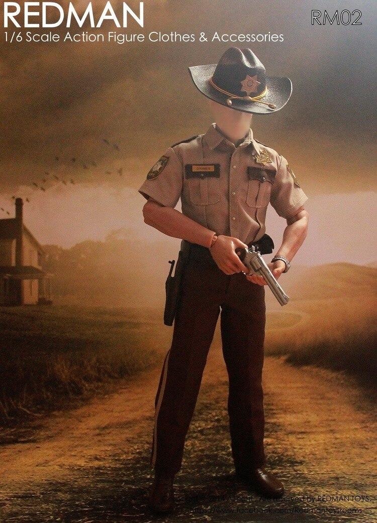 """1/6 escala muñeca Ropa Accesorios Hombre el caminar muerto Rick Sheriff traje 12 """"figura de acción muñeca no incluyen muñeca 2387-in Muñecas from Juguetes y pasatiempos    1"""