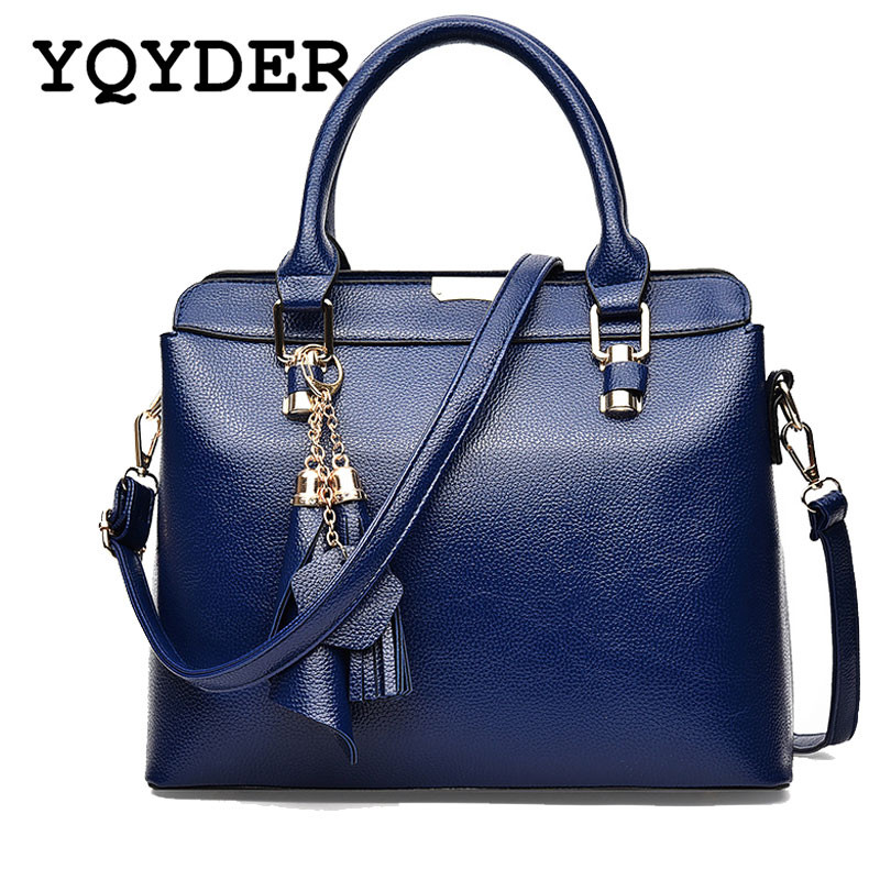Fashion Large Leather Women Handbags Tassel Casual Tote Bag Ladies Designer Shoulder Bags Luxury Messenger Bag High Quality Sac 2018 women 3pcs set handbags pu leather shoulder bags tassel handle designer composite messenger bag casual tote bag ll408