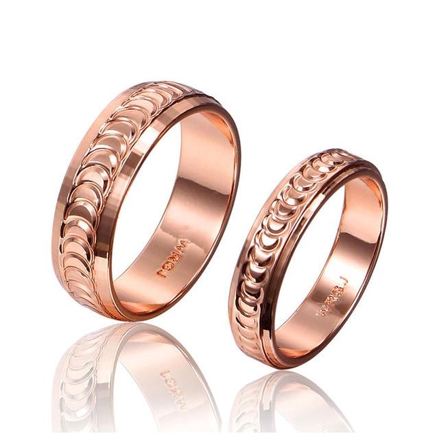 Unisex Rose Gold Paar Ringe Ehering Verlobungsring Männer Frauen ...