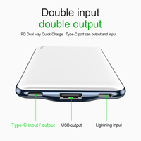 Power bank for iPhone - 10000 mah power bank fast charging 3.0 with USB PD two-way charging 10