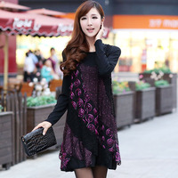 New Arrival Formal Plus Size Clothing Autumn And Winter Plus Size 2013 Autumn One Piece Dress