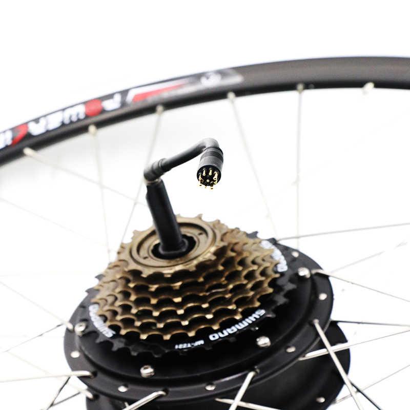"""משלוח חינם חשמלי אופני מנוע גלגל עבור 20 """"24"""" 26 """"700C 28"""" אופניים 1.75-2.125 שפת E-אופניים Brushless רכזת חשמלי גלגל"""