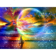 Beautiful sea starry sky diamond Embroidery diy painting mosaic diamant 3d cross stitch pictures H722
